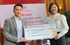 Hội Chữ thập đỏ Việt Nam tiếp nhận hơn 2 tỷ đồng ủng hộ miền Trung