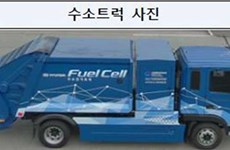 Hàn Quốc thử nghiệm xe chở rác chạy bằng hydro đầu tiên trên thế giới