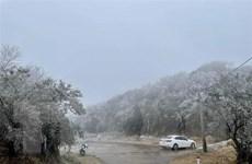 Băng giá, mưa tuyết tiếp tục xảy ra tại vùng núi cao phía Bắc