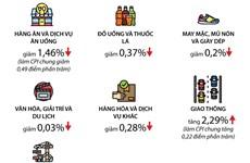 [Infographics] CPI bình quân quý 1 tăng thấp nhất 20 năm qua