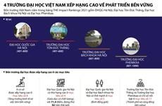 [Infographics] 4 đại học Việt vào bảng xếp hạng THE Impact Rankings