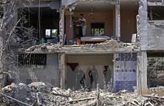 Israel không kích trúng tòa nhà có văn phòng các hãng truyền thông