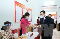 [Video] Chủ tịch Quốc hội bầu cử tại huyện An Lão của Hải Phòng