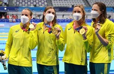 Australia phá kỷ lục thế giới nội dung bơi nữ 4x100m tiếp sức tự do