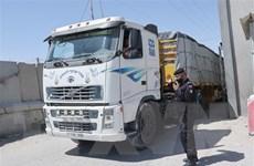 Chính phủ Israel cho phép xe tải chở hàng tiến vào Dải Gaza