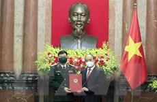 Thăng quân hàm Thượng tướng cho Giám đốc Học viện Quốc phòng