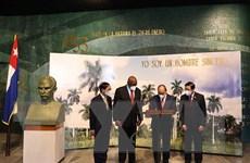 Chủ tịch nước đặt vòng hoa tại Đài tưởng niệm anh hùng Jose Marti