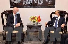 Chủ tịch nước đề nghị FIFA tiếp tục hợp tác và hỗ trợ Việt Nam