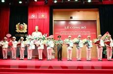 Ra mắt Trung đoàn Không quân Công an nhân dân tại Hà Nội
