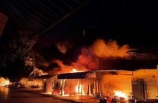 Hải Phòng: Hỏa hoạn thiêu rụi nhiều gian hàng tại chợ Núi Đèo