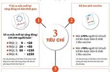 [Infographics] Tiêu chí đánh giá 4 cấp độ thích ứng an toàn COVID-19