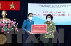 TP. HCM tiếp nhận ủng hộ phòng, chống dịch COVID-19 từ Lào