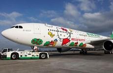 Eva Air mở thêm chuyến bay Hello Kitty nối Đài Loan-Singapore
