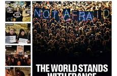Nhiều báo thế giới đổi trang nhất sau vụ xả súng ở báo Charlie Hebdo