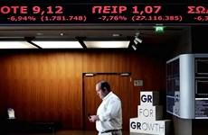 Thị trường chứng khoán Hy Lạp mất giá ngay sau khi mở cửa lại