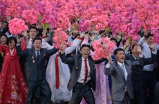 [Photo] Những khoảnh khắc đặc biệt tại lễ diễu binh của Triều Tiên