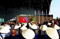 [Photo] Nón lá Việt Nam tràn ngập Hội chợ Expo Milan 2015