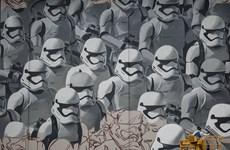 """[Photo] """"Bảo tàng"""" nghệ thuật graffiti khổng lồ trên đường phố Moskva"""