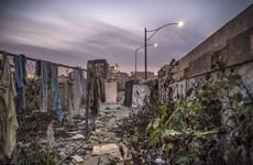 """[Photo] Cuộc sống của người vô gia cư tại """"kinh đô Hollywood"""""""