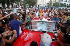 """[Photo] Ngôi sao """"Fast & Furious"""" khuấy động đường phố Cuba"""