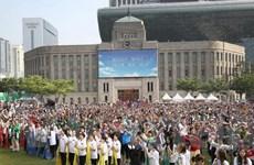 Hàng ngàn người từ 160 nước đi bộ vì hòa bình tại Seoul