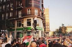[Photo] Cổ động viên Hungary ăn mừng chiến tích lọt vào vòng 1/8 EURO