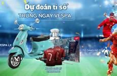 Dự đoán tỷ số EURO, sở hữu ngay xe Vespa cùng Adayroi
