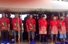 [Video] Indonesia tổ chức lễ trao trả ngư dân Việt Nam trên biển