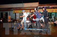 [Photo] Triều cường biến nhiều tuyến đường ở TP.HCM thành sông
