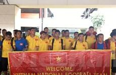 Việt Nam tập luyện tại khách sạn sẵn sàng nghênh chiến Indonesia
