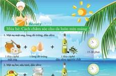 [Infographics] Bí quyết 20 phút giúp làn da luôn mịn màng vào mùa Hè