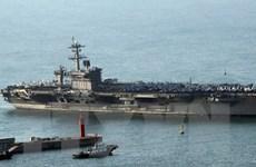 Tàu sân bay USS Carl Vinson tập trận với Hải quân Hàn Quốc