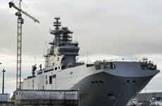 """Khả năng Pháp bàn giao tàu chiến Mistral cho Nga là """"cực thấp"""""""