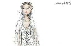 """35 mẫu phác thảo váy cưới """"cực chất"""" dành cho ca sỹ Lady Gaga"""