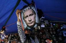 [Photo] Người dân Nga thể hiện sự ngưỡng mộ với Tổng thống Putin