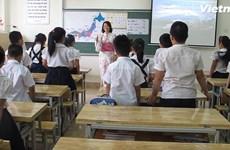 Khai giảng lớp học tiếng Nhật tại các trường tiểu học của Việt Nam