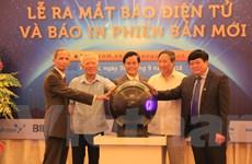 Báo Thế giới và Việt Nam ra mắt báo điện tử và báo in phiên bản mới
