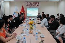 TTK Tổ chức Pháp ngữ đánh giá cao vai trò của Le Courrier du Vietnam