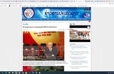 Đại hội XIII của Đảng: Báo chí Lào đưa tin đậm nét về lễ khai mạc