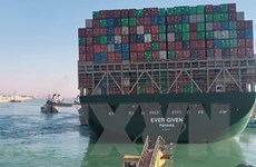 Chưa có thống kê số lượng hàng hóa Việt Nam bị kẹt ở kênh Suez