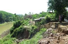 Khánh Hòa: Cần sớm xử lý tình trạng sạt lở bờ sông Cái ở Khánh Vĩnh
