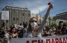 Lại biểu tình phản đối dự luật cải cách lao động ở Hy Lạp