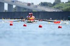 Việt Nam xếp thứ 15/18 ở nội dung đua thuyền đôi nữ hạng nhẹ