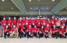 Olympic Tokyo 2020: Đoàn thể thao Việt Nam trở về nước