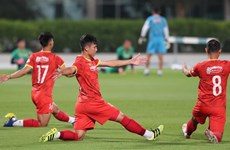 Hoạt động của đội tuyển Việt Nam trước trận gặp Jordan tại UAE