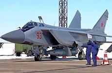 Nga lần đầu điều máy bay MiG-31K mang tên lửa siêu thanh tới Syria