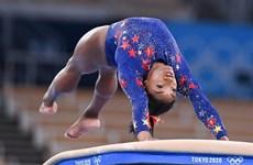 Simone Biles trở lại tranh tài ở nội dung cầu thăng bằng Olympic