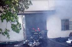 Cháy lớn tại nhà máy trong Khu công nghiệp Hòa Xá ở Nam Định