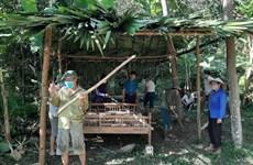 COVID-19: Dựng nhà tạm cho người cách ly tại nhà ở Yên Bái