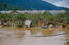 Lâm Đồng: Huy động lực lượng hỗ trợ người dân vùng bị ngập lụt